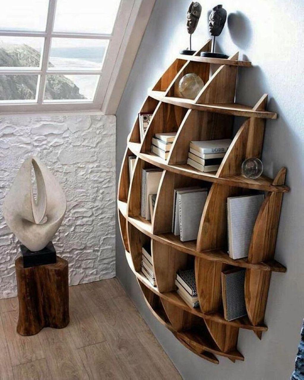 Elegant Bookshelves Decor Ideas That Trending Today 27