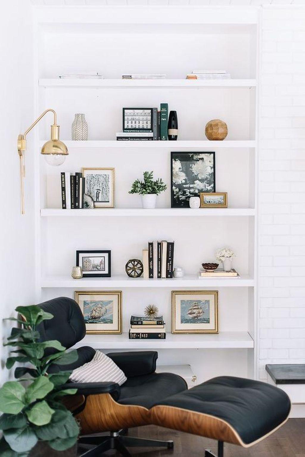 Elegant Bookshelves Decor Ideas That Trending Today 47