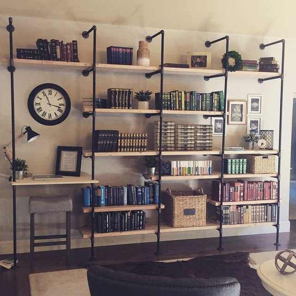 Elegant Bookshelves Decor Ideas That Trending Today 50