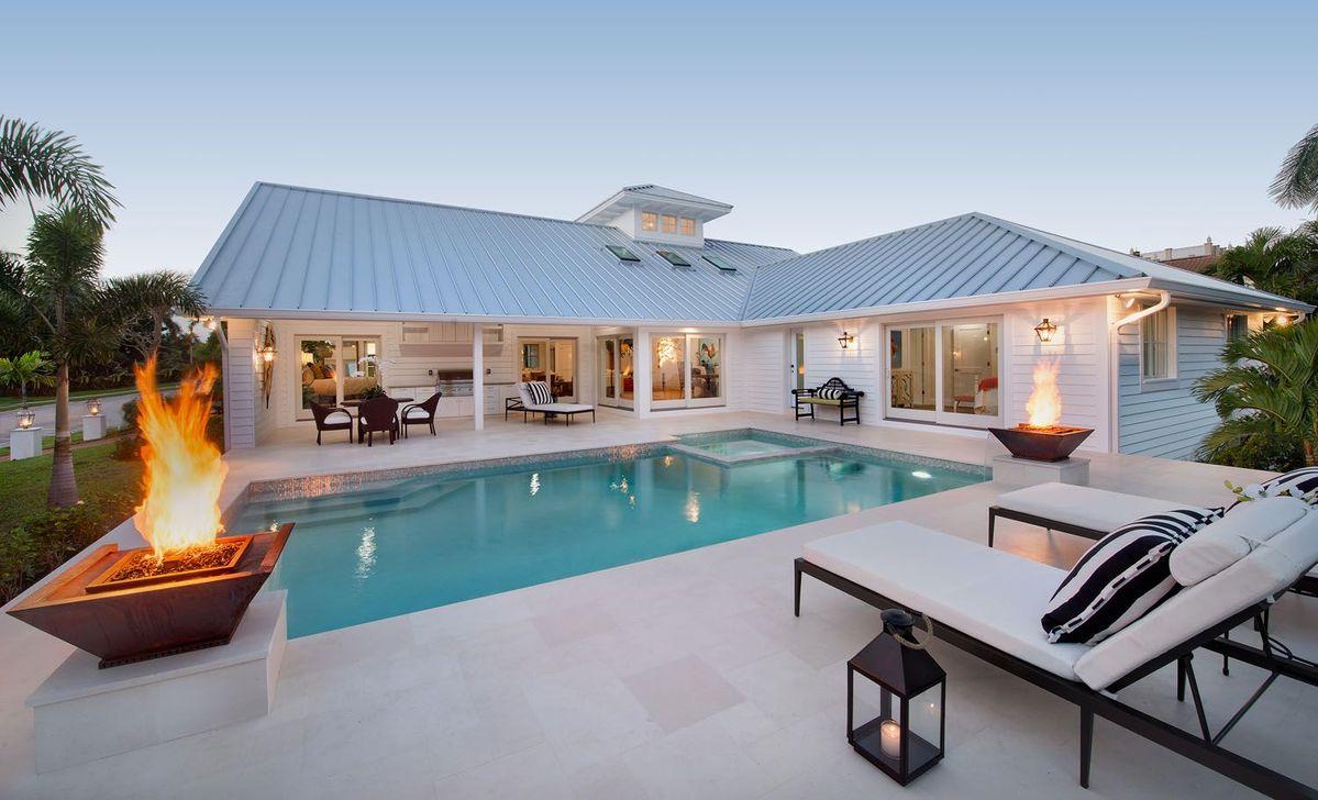 Awesome Backyard Patio Ideas With Beautiful Pool 02