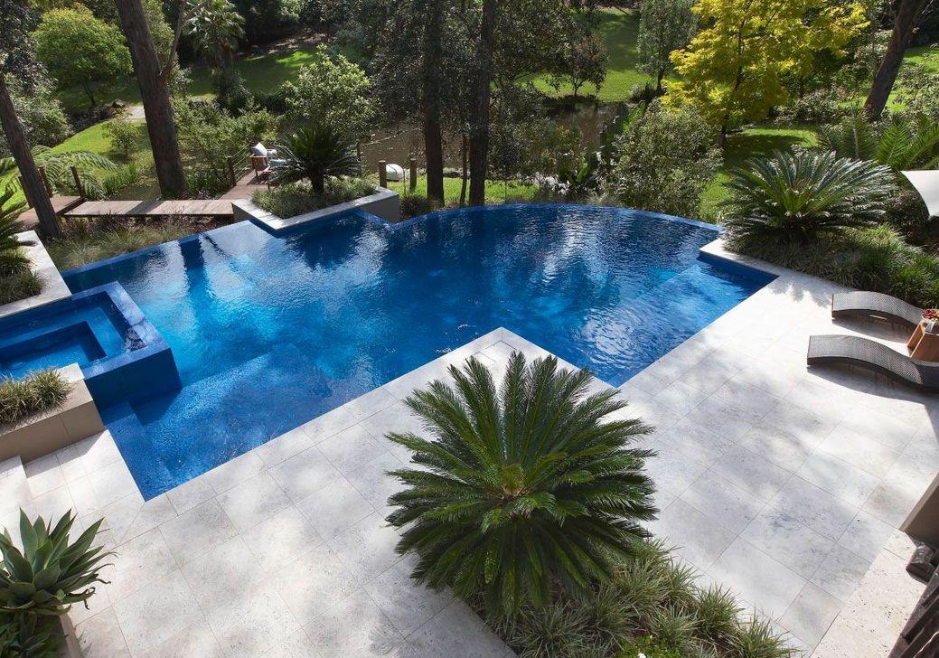 Awesome Backyard Patio Ideas With Beautiful Pool 12