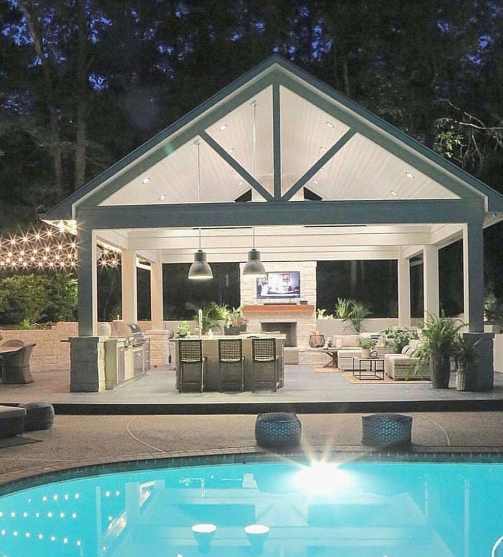 Awesome Backyard Patio Ideas With Beautiful Pool 14