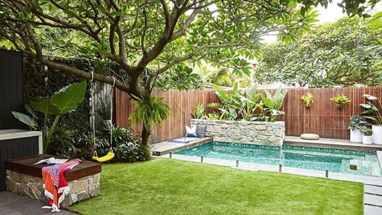 Awesome Backyard Patio Ideas With Beautiful Pool 18