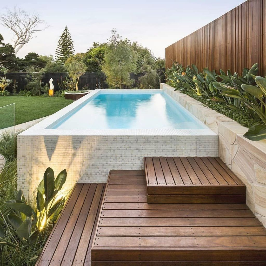 Awesome Backyard Patio Ideas With Beautiful Pool 34