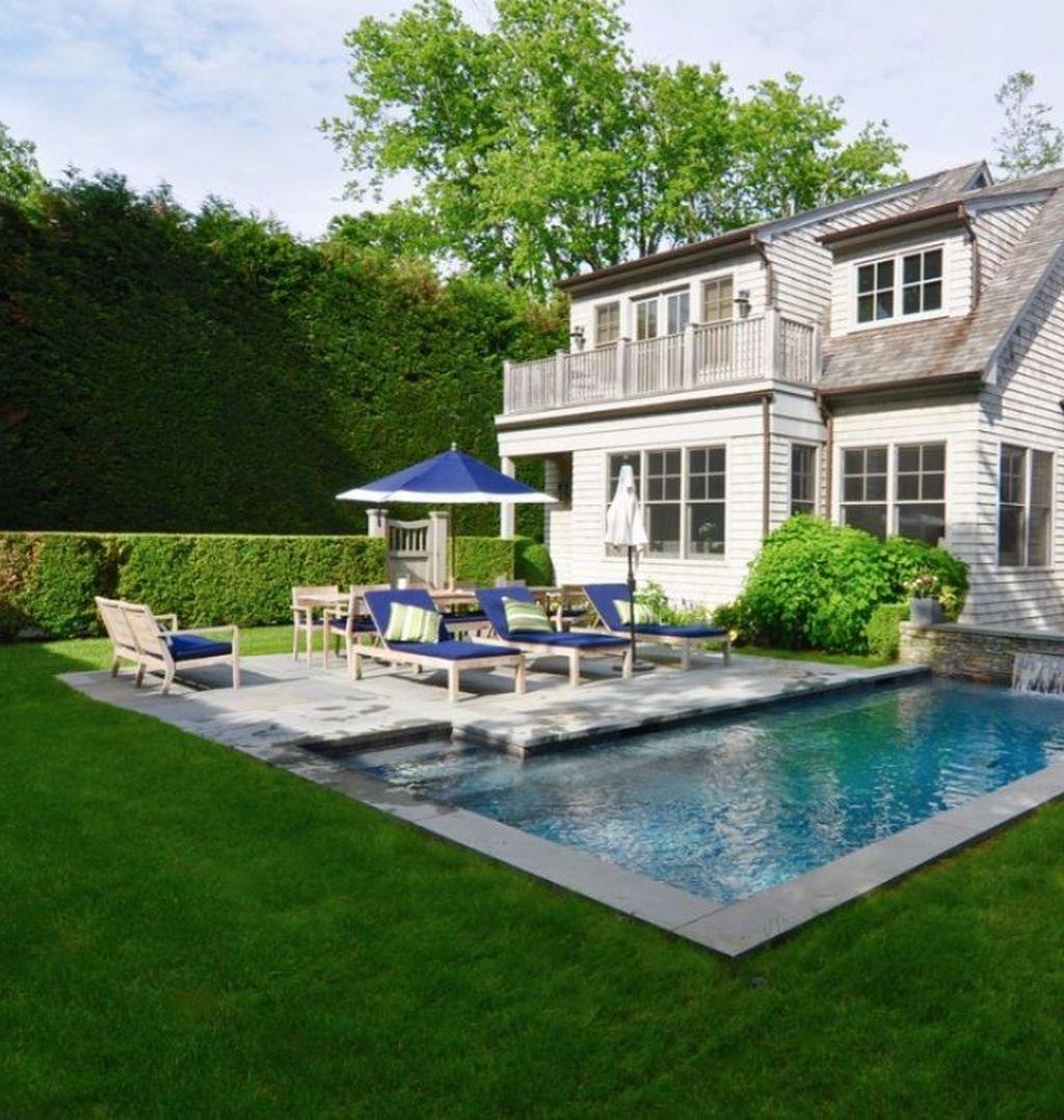 Awesome Backyard Patio Ideas With Beautiful Pool 49