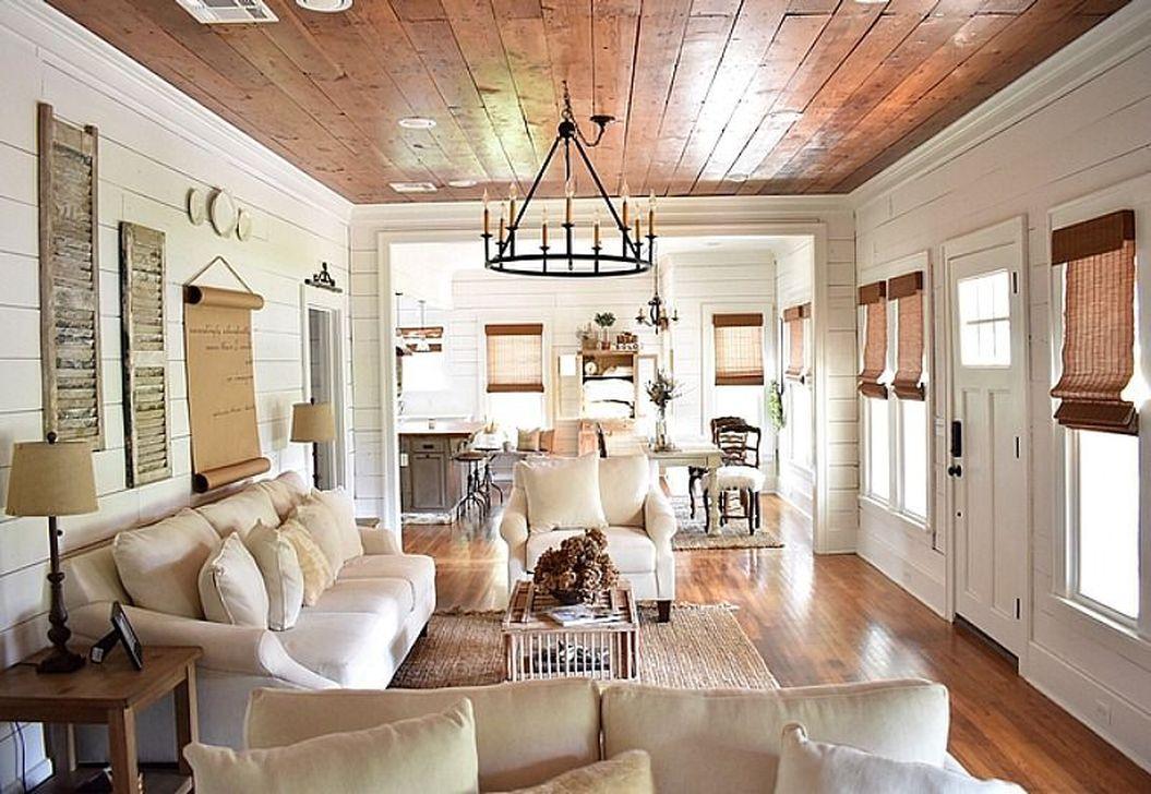 Splendid Farmhouse Living Room Decor Ideas 26