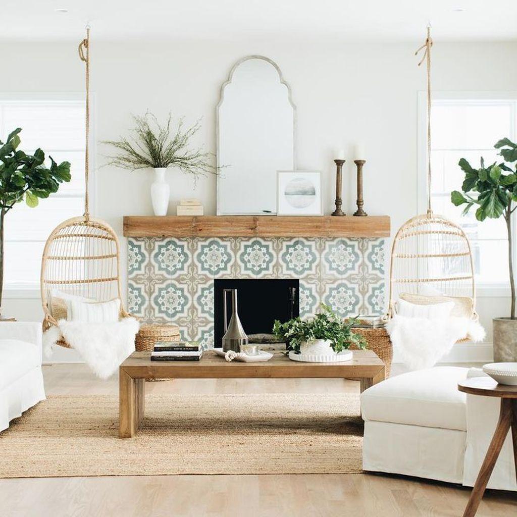 Splendid Farmhouse Living Room Decor Ideas 35